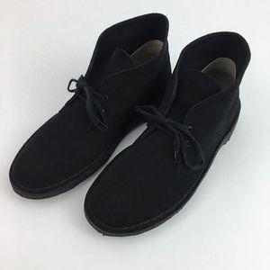 Clarks Original Desert Boots Mens Black Suede